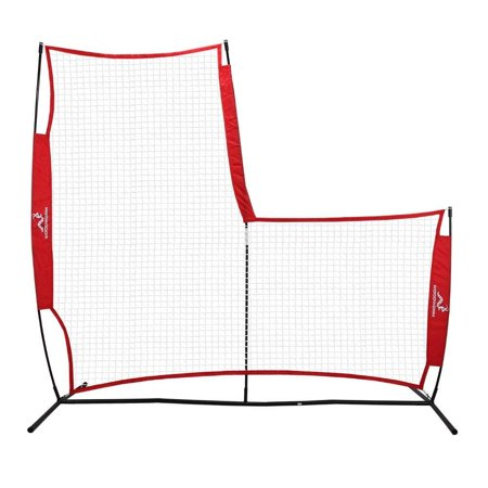 Woodworm Portable Baseball Screen - Pop-Up Pitching Protecting L-Screen Net and Frame (Portable Pitching Net)