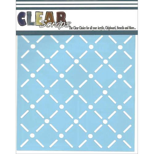 Clear Scraps Stencils 12 Inch X 12 Inch-Quilt