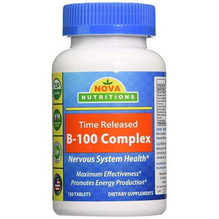 Nova Nutritions B 100 Vitamin B Complex 120 Time Released Tablets