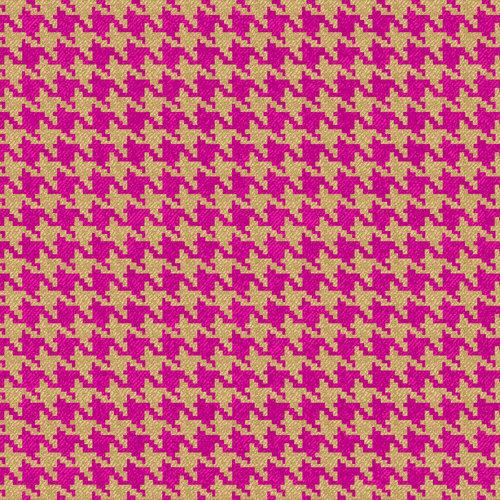 V.i.p By Cranston Denim Express Houndstooth Fabric Fuchsia