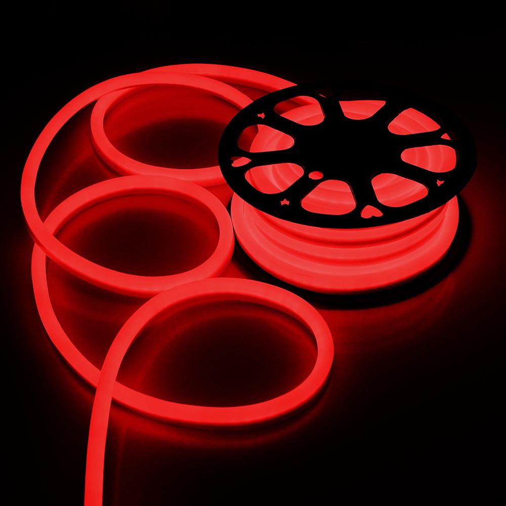 yescom 50 ft150 ft 110v flex led neon rope light indoor outdoor holiday valentine party decorative lighting walmartcom - Neon Outdoor Christmas Decorations