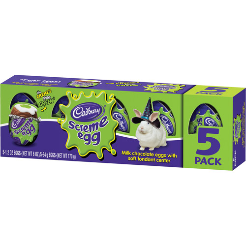 ***DISCONTINUED***Cadbury Screme Eggs Candy, 1.2 oz, 5 count