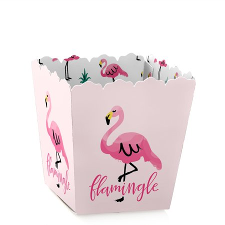 Baby Shower Treat Box (Flamingo - Party Like a Pineapple - Party Mini Favor Boxes - Baby Shower or Birthday Party Treat Candy Boxes - Set of 12)