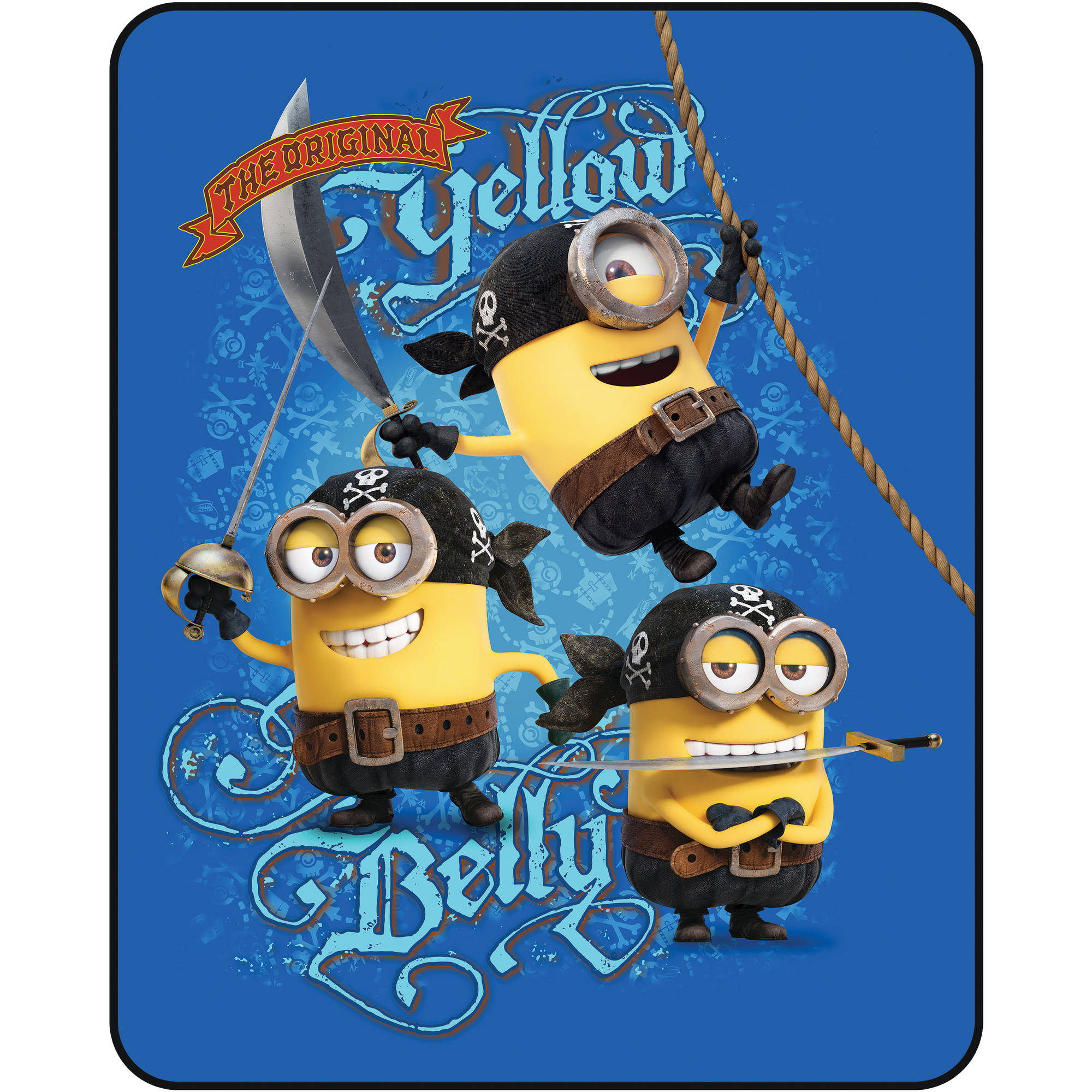 Minions Yellow Belly Silk Touch Throw