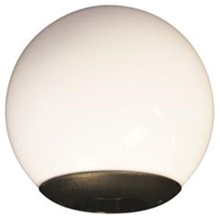 National Brand Alternative 897563 Acrylic Globe Post Fitter, 10 in. - image 1 of 1