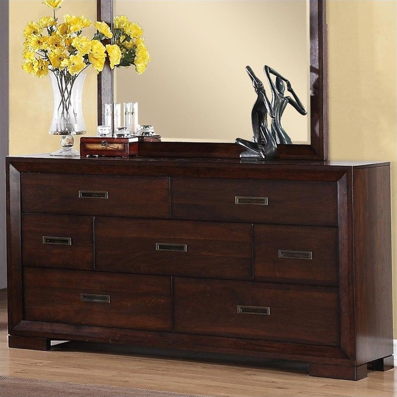 Riverside Furniture Riata Dresser in Warm Walnut