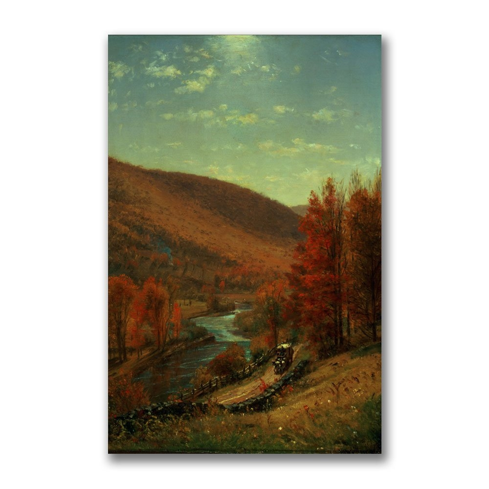 A Road Through Belvedere by Thomas Worthington, 22x32-Inch Canvas Wall Artwork by Trademark Fine Art