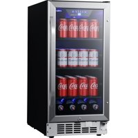 "EdgeStar CBR902SG Stainless Steel 15"" Wide 80 Can Built-In Beverage Cooler"