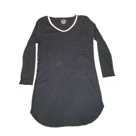 70d0fbdee4 Soft Sensations - Womens Black   Pink Long Sleeve Sleep Shirt Nightgown -  Size - Small - Walmart.com