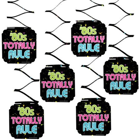 80's Retro - Totally 1980s Party Hanging Decorations - 6 (80's Decorations)