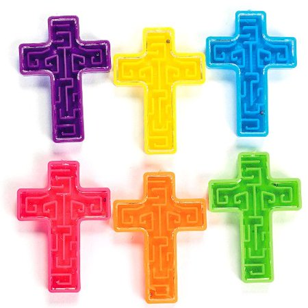 Bright Mini Cross Maze Puzzles 6 Dozen