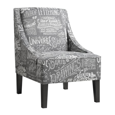 Pri Chalkboard Shadow Upholstered Accent Chair