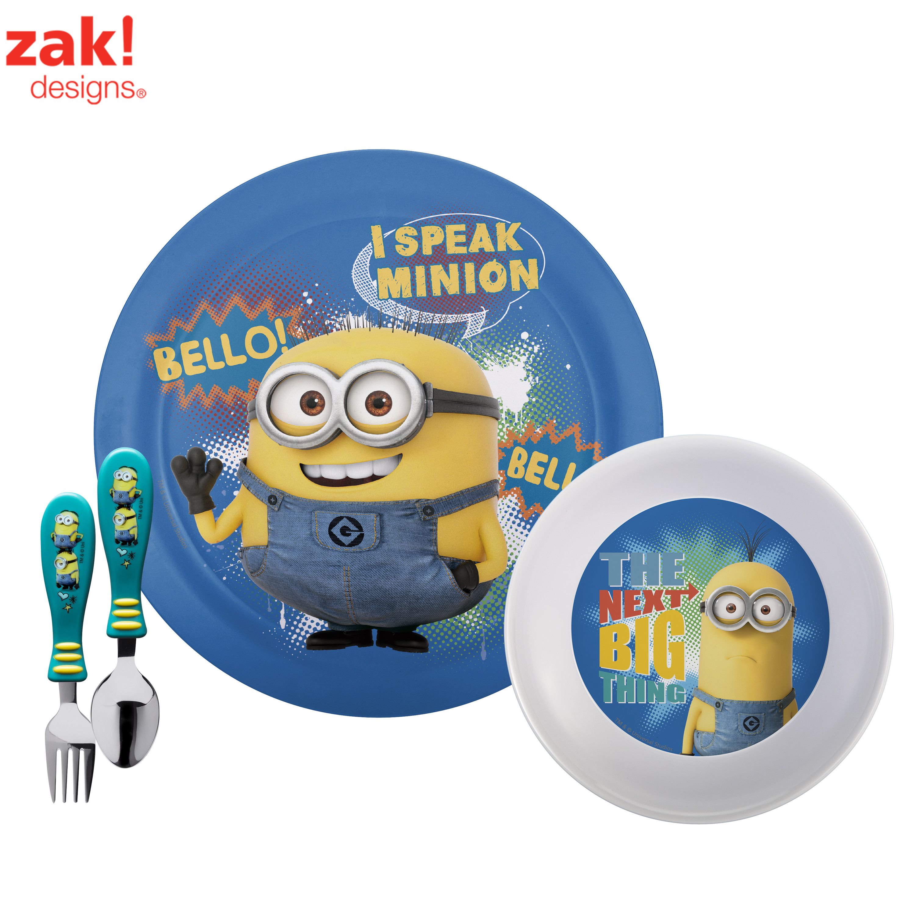 Despicable Me Minions Plate, Bowl & Flatware , 3-piece set