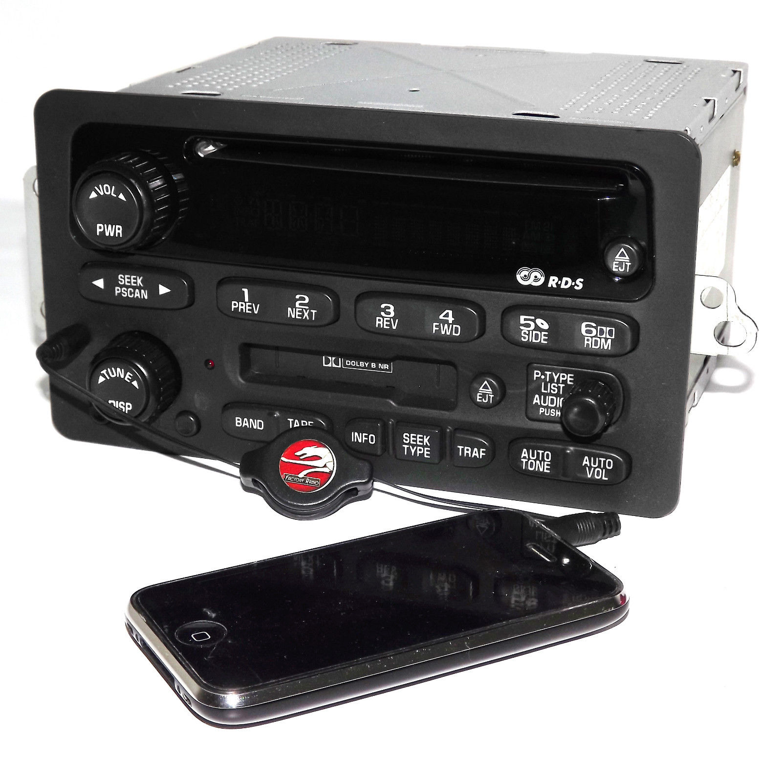 Chevy 2000-05 Car Radio AM FM CD Cassette Player w Aux iPod mp3 Input 10318438 Refurbished by GM