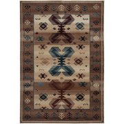 """Rizzy Home Tan/Ivory/Brown Runner Rug In Polypropylene 2'3"""" x 7'7"""""""