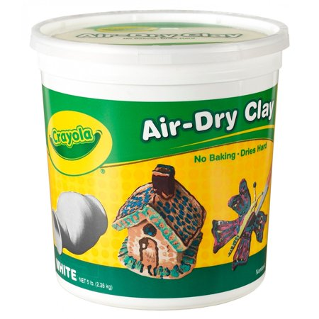Sculpting Clay (Crayola Air Dry Clay Bucket, No Bake Clay For Kids, 5Lbs,)