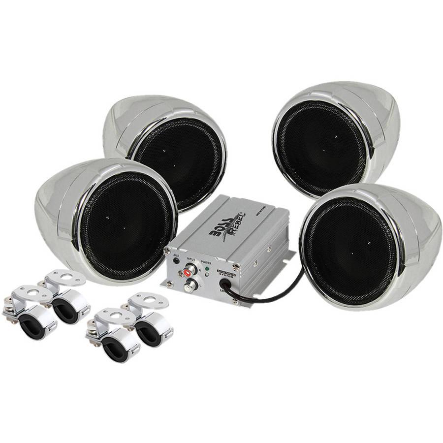 Boss Audio MC470B Chrome 1000 watt Motorcycle/ATV Sound System w Bluetooth Audio Streaming