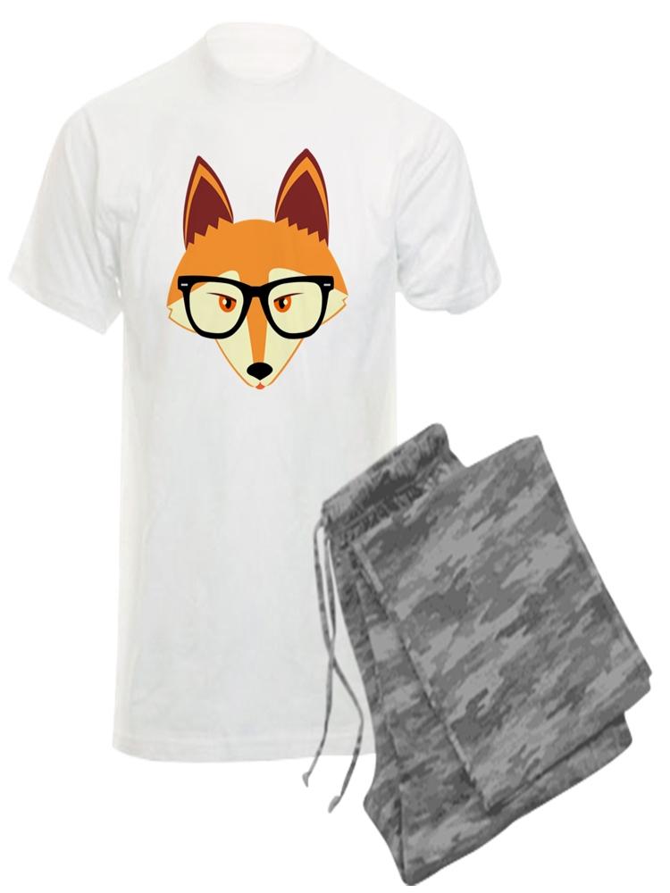 Comfortable PJ Sleepwear CafePress Cute Hipster Red Fox Womens Novelty Cotton Pajama Set