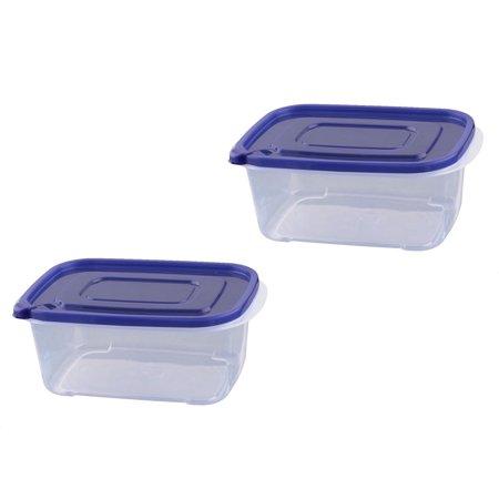 Rectangle plastique cuisine bo te stockage alimentaire herm tique contenant chauffable 2pcs - Boite plastique cuisine ...