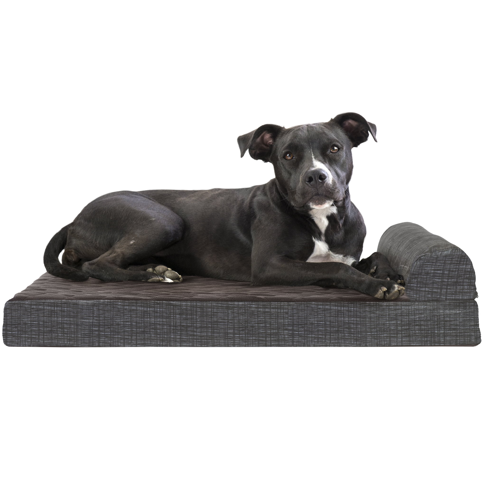 Medium Deluxe Cooling Gel Memory Foam Orthopedic Quilted Fleece /& Print Suede Chaise Lounge Sofa-Style Living Room Couch Pet Bed w// Removable Cover for Dogs /& Cats Titanium Furhaven Pet Dog Bed
