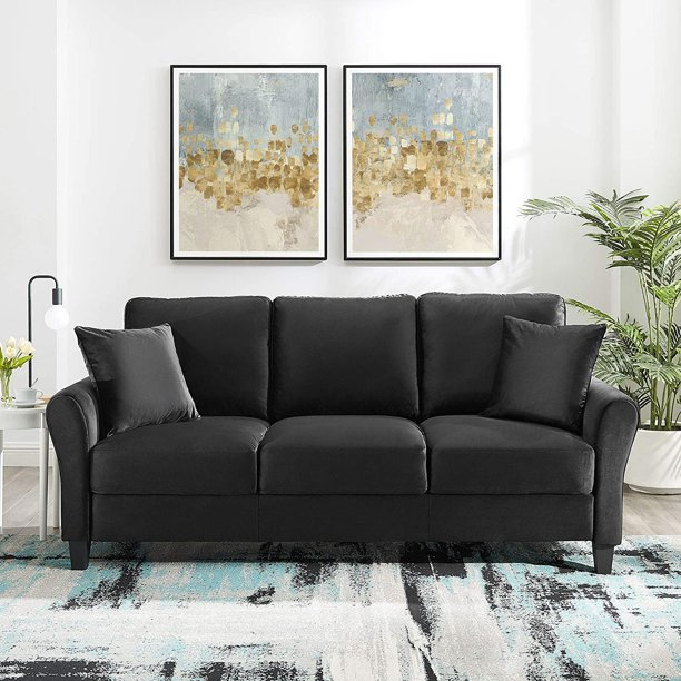 Tribesigns 3-seat Sofa Couch, Polyester Cotton Modern Sofas for Small Place Home Living Room Apartment