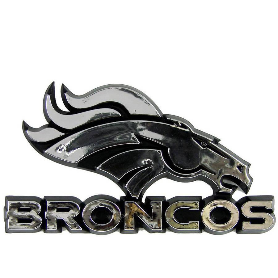 NFL Denver Broncos Chrome Automobile Emblem