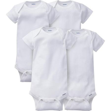 Gerber Newborn Baby Onesies Brand Organic Short Sleeve Bodysuits,