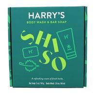 Harry's Body Wash & Bar Soap Scent of Fresh herbs Bar Soap 5 Oz Body Wash 2 Oz