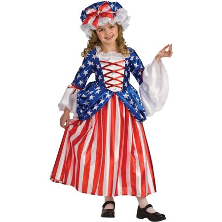 Betsy Ross Girls Child Halloween Costume (Baker Ross Halloween Crafts)