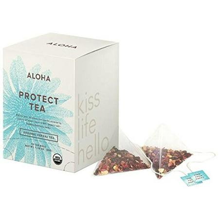 Image of Aloha Protect Tea, Echinacea Elberberry Elderflower; Ayurvedic Herbs, 15 Ct