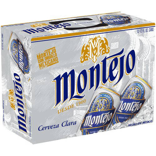 Montejo Cerveza Clara Beer, 12 fl oz, 12 pack