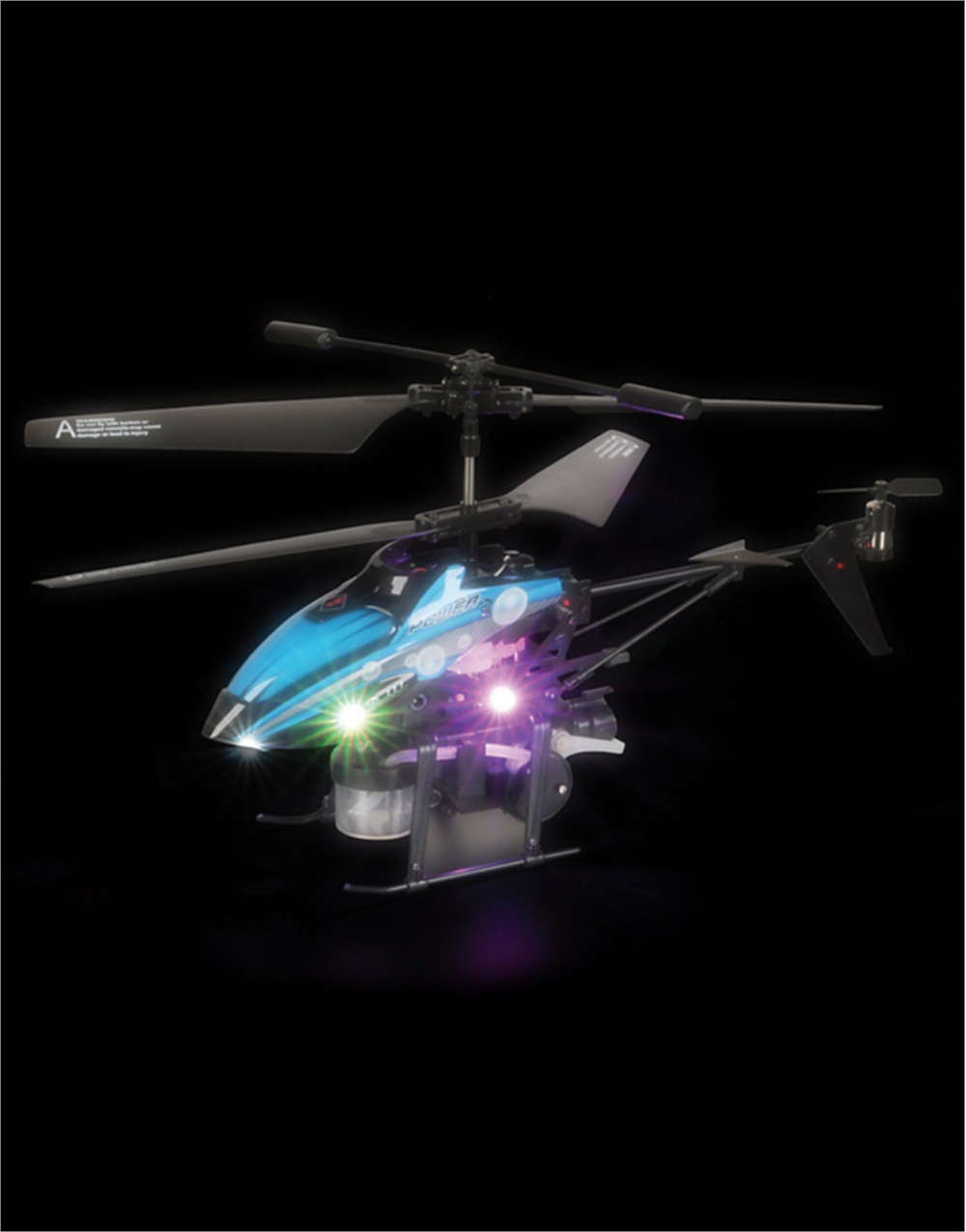 """10"""" Remote Control LED Light Up Bubble Blaster Toy Flying Helicopter by Rhode Island Novelty"""