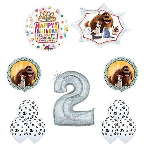 The Secret Life of Pets 2nd Holographic Birthday Party Balloon Supply Decorat...