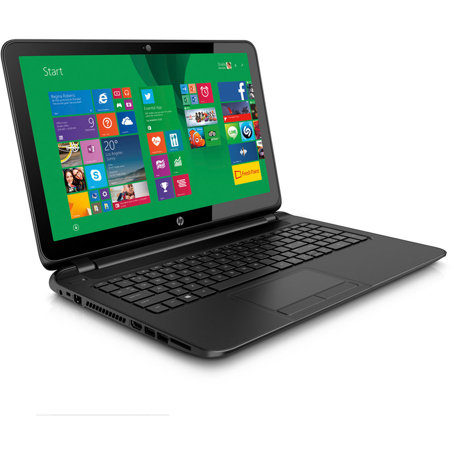 Hp notebook laptop windows 8 - Hp 15 F125wm Intel Celeron N2940 X4 1 83ghz 4gb 500gb Dvd Rw 15 6 Win8 1 Black Refurbished Walmart Com