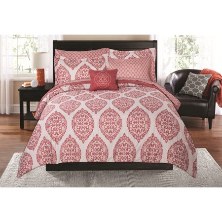 Mainstays Global Damask Bed in a Bag Coordinating Bedding