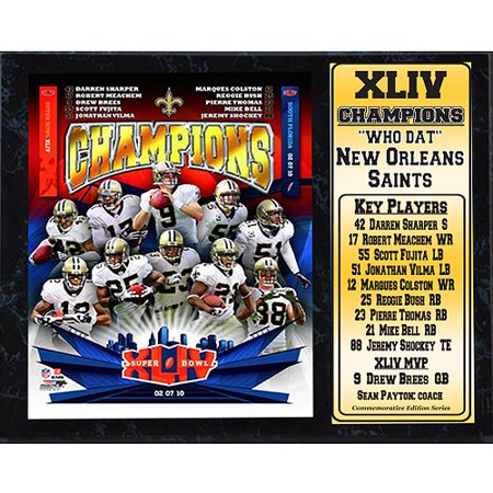 NFL New Orleans Saints Champions Stat Plaque, 12x15