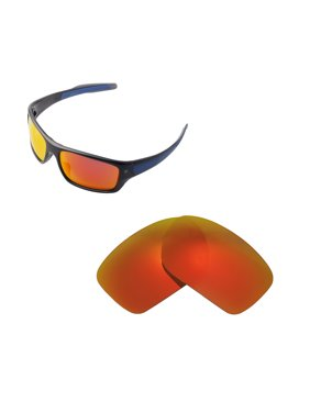 0b98680144 Product Image Walleva Fire Red Polarized Replacement Lenses for Oakley  Turbine Sunglasses