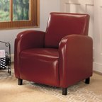 Coaster Upholstery Leatherette Accent Chair Brown