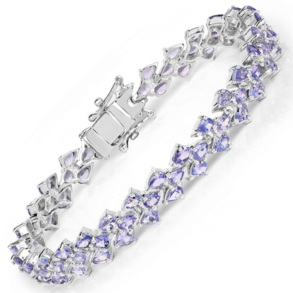 Genuine Pears Tanzanite Bracelet in Sterling Silver by