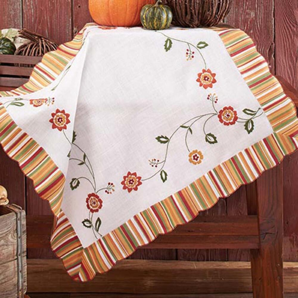 Nob Hill Fall Festival Table Topper Stamped Embroidery Kit