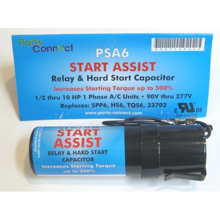 Air Conditioner HVAC Compressor Hard Start Capacitor Increase Torque 500% PSA6