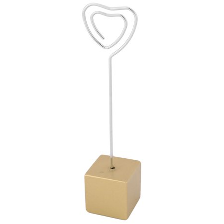 - Household Office Resin Cube Shaped Base Decorative Paper Memo Clip Gold Tone