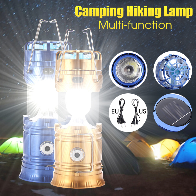 3In1 Solar Camping Light Flashlight Fan 5W Solar Power Outdoor Fishinglight Lantern Hanging Camping Gear Hiking Emergency Light Rechargeable Fan Tent Lighting Bulb