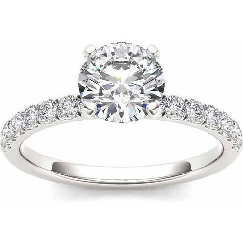 Imperial 3/4 Carat T.W. Diamond Classic 14kt White Gold Engagement Ring