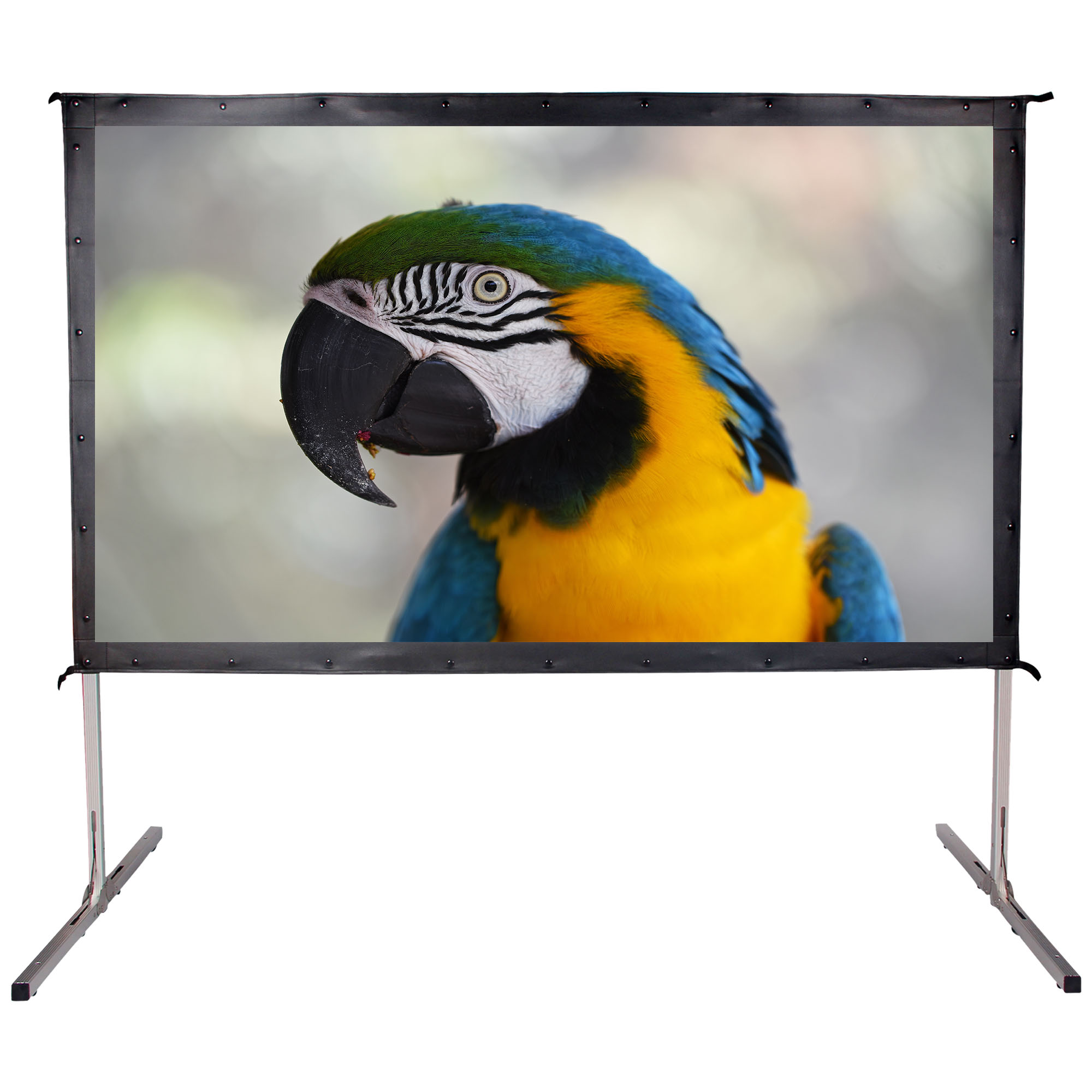 """Cloud Mountain 90"""" 16:9 HD Projector Screen 4K Movie Theater Ready Portable Foldaway Projector Screen Front Projection"""
