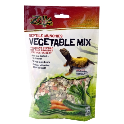 Zilla 09626 Natural Reptile Munchies Vegetable Mix, 4 oz, Resealable Bag