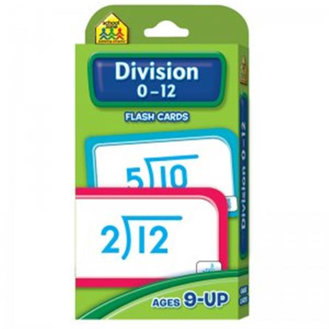 School Zone Publishing SZP04017BN Division 0-12 Flash Cards - Pack of 12