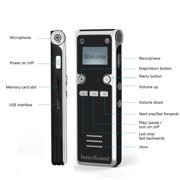 Digital Voice Recorder Voice activated audio recorder,mini audio recorders ,Seenda music recorder,HD Recording of Lectures and Meetings with Double Microphone ()