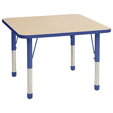 Quot Ecr4kids 36 Quot Quot Square T Mold Adjustable Activity Table Quot