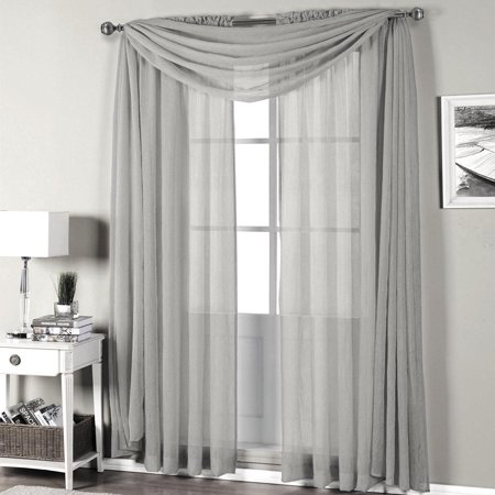 Sheer Linen Window Panel (Qutain Linen Solid Viole Sheer Curtain Window Panel Drapes 55